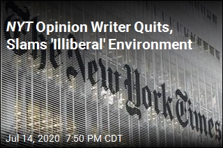 NYT Opinion Writer Quits, Slams 'Illiberal' Environment