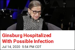 RBG Hospitalized With Possible Infection
