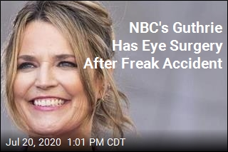 NBC's Guthrie Has Eye Surgery After Freak Accident