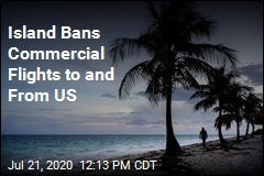 Island Bans Commercial Flights to and From US
