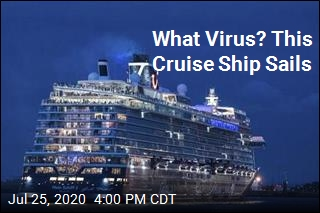 Cruise Ship Sails Amid Pandemic