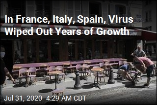 In France, Italy. Spain, Virus Wiped Out Years of Growth