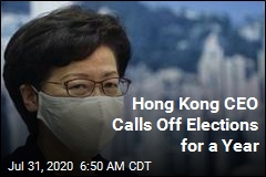 Hong Kong Leader: Elections Postponed for Year Due to Virus