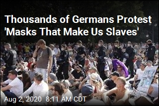 Thousands of Germans Protest 'Masks That Make Us Slaves'