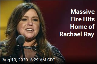 Huge Fire Guts Home of Rachael Ray