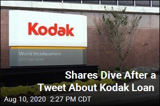 Shares Dive After a Tweet About Kodak Loan