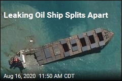 Leaking Oil Ship Splits Apart