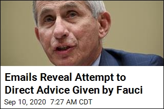 Emails Reveal Attempt to Direct Advice Given by Fauci