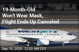 Flight Canceled After 19-Month-Old Won't Wear Mask