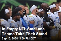 In Empty NFL Stadiums, Teams Take Their Stand