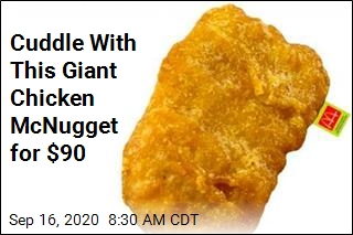 Cuddle With This Giant Chicken McNugget for $90