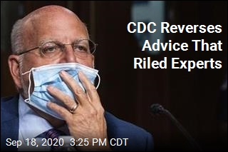 CDC Backtracks on Controversial Testing Advice