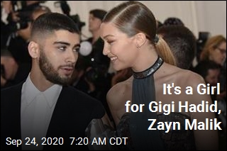 It's a Girl for Gigi Hadid, Zayn Malik