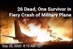 26 Dead, One Survivor in Fiery Crash of Military Plane
