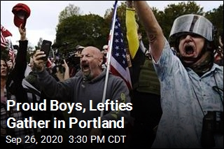 Proud Boys, Lefties Gather in Portland