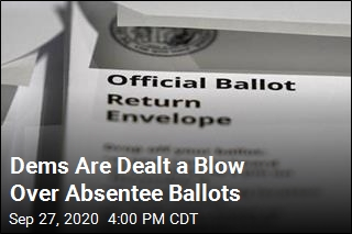 Dems Are Dealt a Blow Over Absentee Ballots