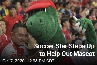 Soccer Star Offers to Cover Salary of Laid-Off Mascot