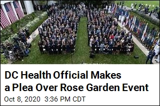 DC Health Official Has Plea for Those at Rose Garden