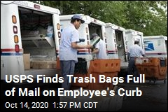 USPS Finds Trash Bags Full of Mail on Employee's Curb