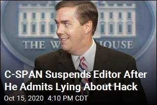 C-SPAN Suspends Scully After He Admits Lying About Hack