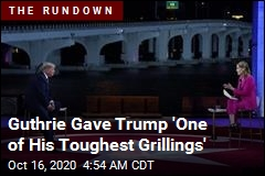 Guthrie Gave Trump 'One of His Toughest Grillings'