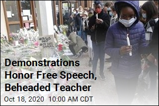 Demonstrations Honor Free Speech, Beheaded Teacher