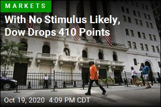 With No Stimulus Likely, Dow Drops 410 Points