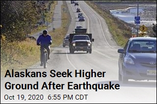 Alaskans Seek Higher Ground After Earthquake