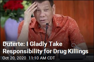 Duterte: I Gladly Take Responsibility for Drug Killings