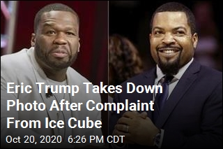 Eric Trump Pulls Altered Photo of Ice Cube, 50 Cent