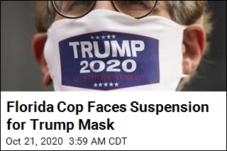 Florida Cop Will Be Disciplined for Trump Mask