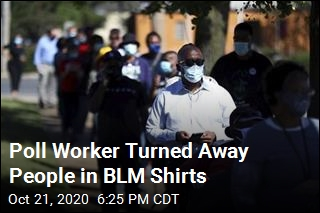 Poll Worker Turned Away People in BLM Shirts
