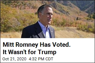 Mitt Romney Has Voted. It Wasn't for Trump
