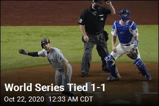 World Series Tied 1-1