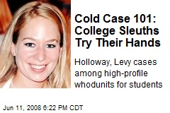 Cold Case 101: College Sleuths Try Their Hands