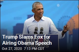 Trump 'Disappointed' That Fox Aired Obama Speech