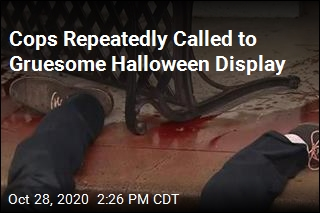 Cops Called to Man's Bloody Halloween Display