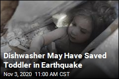 Dishwasher May Have Saved Toddler in Earthquake