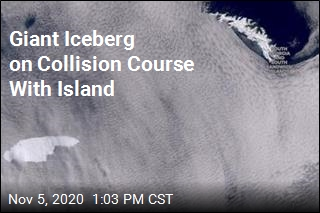 World's Biggest Iceberg Could Collide With Island