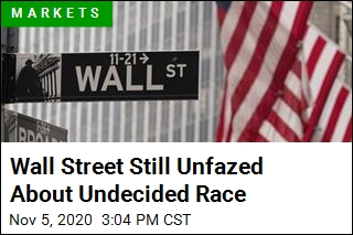 Wall Street Still Unfazed About Undecided Race