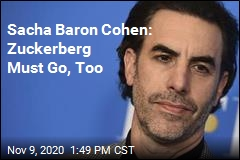Sacha Baron Cohen Takes Shot at Zuckerberg