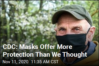 CDC: Masks Protect Wearers, Too