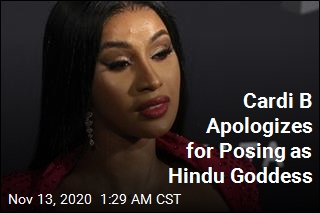 Cardi B Sorry for Posing as Hindu Goddess
