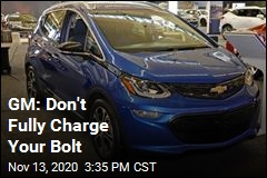 GM: Don't Fully Charge Your Bolt