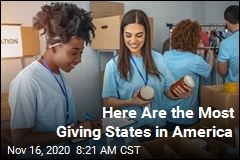 Here Are the Most Giving States in America