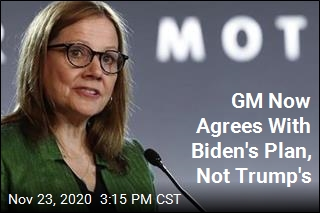 GM Now Agrees With Biden's Plan, Not Trump's