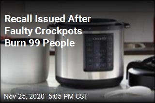 More Than 900K Crockpots Recalled Over Burn Danger