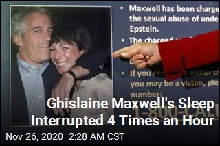 Ghislaine Maxwell's Sleep Interrupted Every 15 Minutes