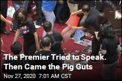Pushback on Pork Leads to Pig Guts in Parliament