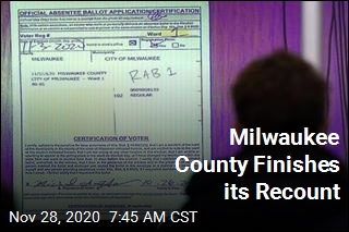 Milwaukee County Finishes its Recount